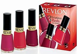Parfumuri și produse cosmetice Set - Revlon Kit Trio Flirtatious Reds (nail/3pcs)