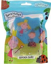 """Parfumuri și produse cosmetice Burete pentru baie """"Ben și Holly"""", roz albastru - Suavipiel Ben & Holly Bath Sponge"""