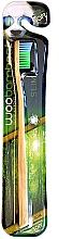 Parfumuri și produse cosmetice Periuță de dinți, moale, albastră + verde - Woobamboo Toothbrush Slim Soft