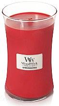 Parfumuri și produse cosmetice Lumânare aromată - WoodWick Hourglass Candle Crimson Berries