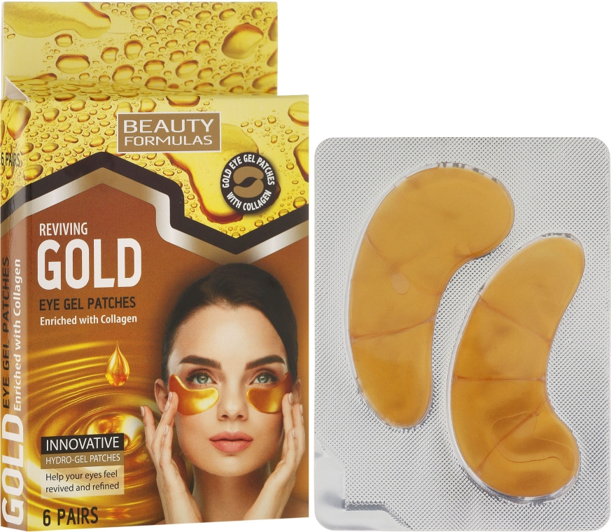 Patch-uri de gel - Beauty Formulas Reviving Gold Eye Gel Patches
