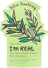 Parfumuri și produse cosmetice Mască cosmetică din hârtie pentru față - Tony Moly I'm Real Tea Tree Mask Sheet