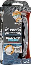 Parfumuri și produse cosmetice Aparat de ras + 1 rezervă - Wilkinson Sword Quattro Titanium Precision