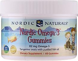 """Parfumuri și produse cosmetice Supliment alimentar pentru copii, cu aromă de mandarină """"Omega 3"""", 82 mg - Nordic Naturals Gummy"""