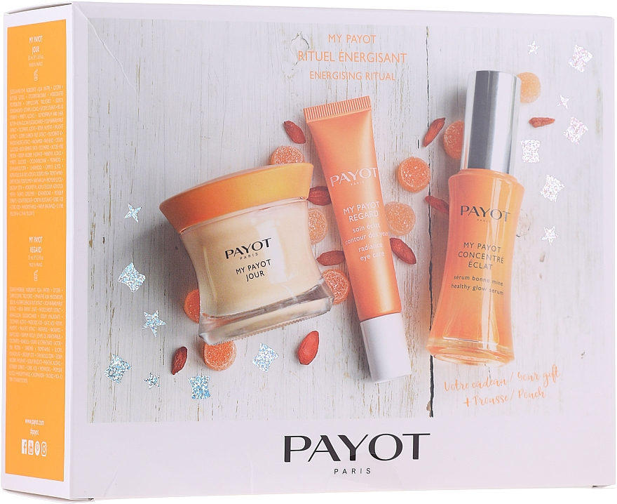 Set - Payot My Payot Set (cream/50ml + serum/30ml + eye/cream/15ml + bag) — Imagine N1