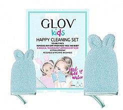 Parfumuri și produse cosmetice Set - Glov Kids Happy Cleaning Set Blue (big/glove/1pcs + small/glove/1pcs)