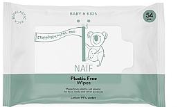 Parfumuri și produse cosmetice Șervețele umede - Naif Wet Wipes 54St Plastic Free