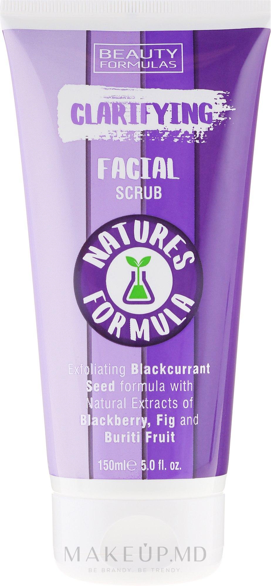 Скраб для лица - Beauty Formulas Natures Formula Clarifying Facial Scrub — фото 150 ml