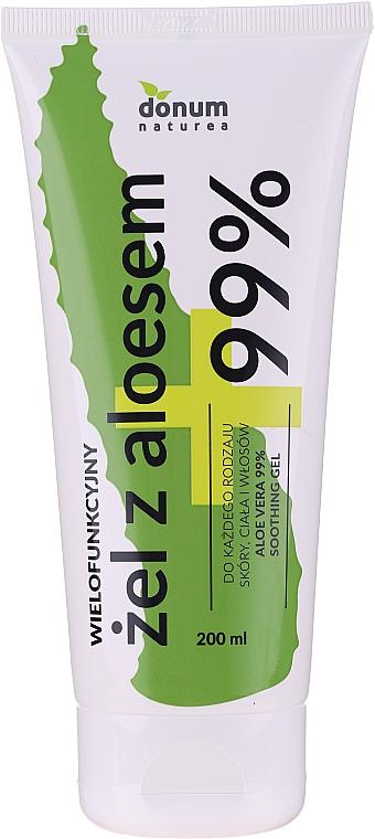 """Gel multifuncțional """"Aloe Vera"""" pentru față, corp și păr - Donum Naturea Aloe Vera 99% Soothing Gel"""