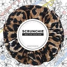 "Parfumuri și produse cosmetice Elastic de păr, tricotaj, leopard ""Knit Fashion Classic"" - MakeUp Hair Accessories"