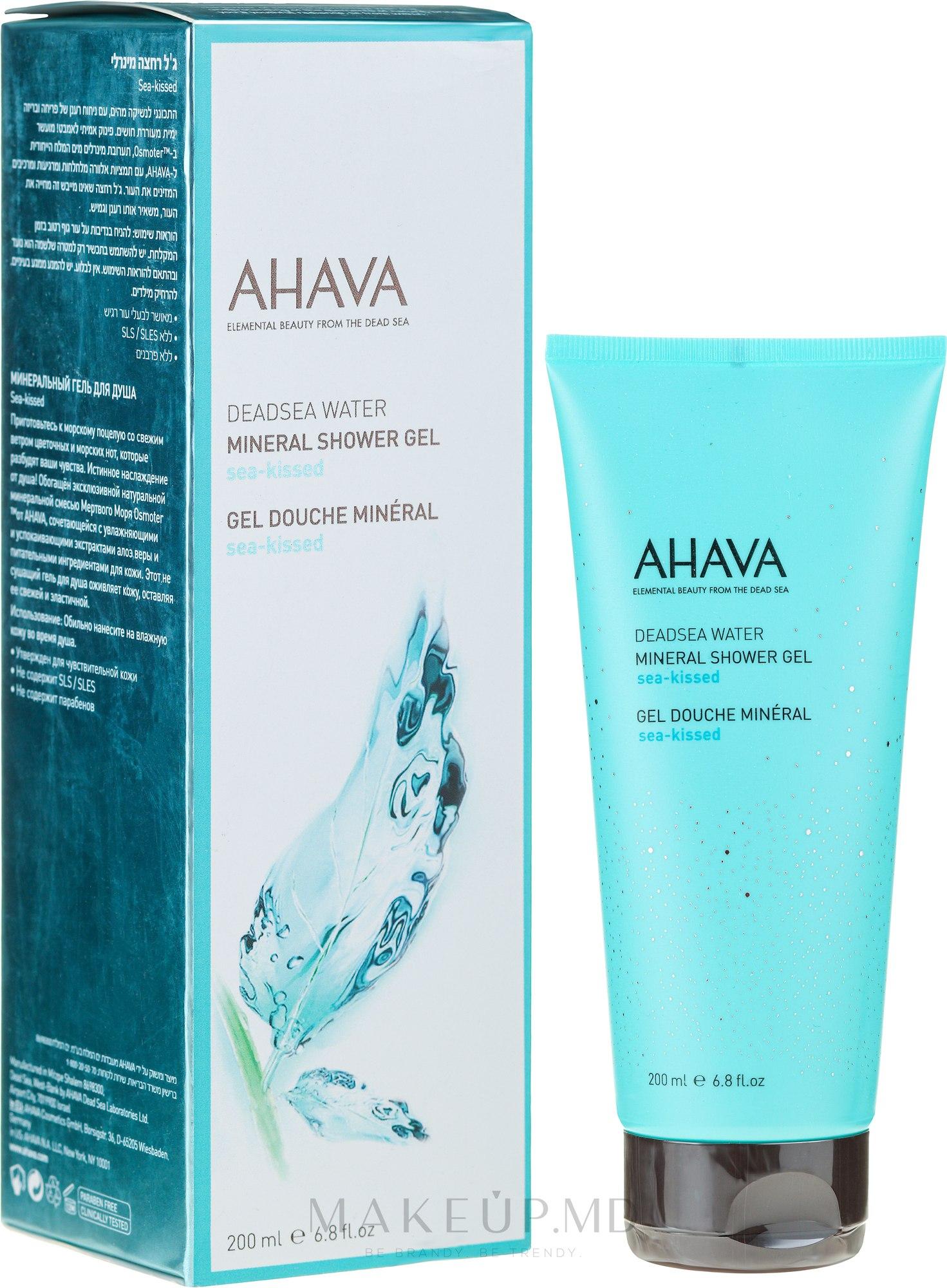 "Gel de duș ""Sărutul mării"" - Ahava Deadsea Water Sea-kissed Shower Gel — Imagine 200 ml"