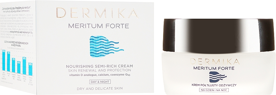 Cremă nutritivă pentru piele uscată și sensibilă - Dermika Meritum Cream — Imagine N1