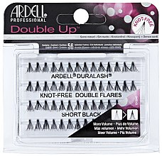 Parfumuri și produse cosmetice Set de gene individuale - Ardell Double Up Knot Free Double Flares Black Short
