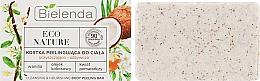 """Parfumuri și produse cosmetice Săpun-scrub pentru corp """"Cocos"""" - Bielenda Eco Nature Body Peeling Bar Vanilla Coconut Milk Orange"""