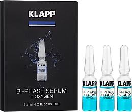 """Parfumuri și produse cosmetice Ser bifazic pentru față """"Oxigen"""" - Klapp Bi-Phase Serum Oxygen"""