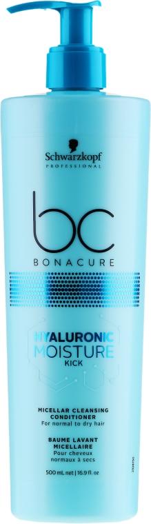 Balsam pentru păr, micelar - Schwarzkopf Professional Bonacure Hyaluronic Moisture Kick Micellar Cleansing Conditioner