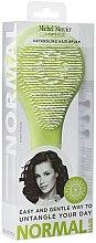 Parfumuri și produse cosmetice Perie de păr, verde deschis - Michel Mercier Elegant Detangling Hair Brush