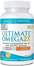 "Parfumuri și produse cosmetice Supliment alimentar cu aromă de lămâie ""Omega 2X + vitamina D3"" 2150 mg - Nordic Naturals Omega 2X With Vitamin D3"