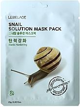 Parfumuri și produse cosmetice Mască din țesătură pentru față - Lebelage Snail Solution Mask
