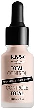 Parfumuri și produse cosmetice Primer pentru față - NYX Professional Makeup Professional Total Control Drop Primer