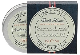 Parfumuri și produse cosmetice Ceară pentru barbă și mustăți - Bath House Menthol Snorwax