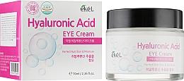 Parfumuri și produse cosmetice Cremă hidratantă cu acid hialuronic pentru zona din jurul ochilor - Ekel Hyaluronic Acid Eye Cream