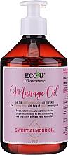 Parfumuri și produse cosmetice Ulei de masaj - Eco U Massage Oil Sweet Almond Oil