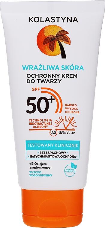 Cremă de protecție pentru ten sensibil - Kolastyna SPF50