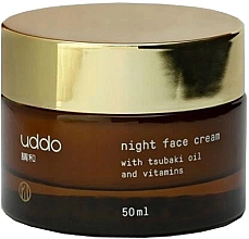 Parfumuri și produse cosmetice Cremă hidratantă cu ulei de tsubaki și vitamine pentru noapte - Uddo Night Face Cream With Tsubaki Oil And Vitamins