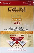 Parfumuri și produse cosmetice Ser anticelulitic pentru slăbire și modelarea corpului - Eveline Cosmetics Slim Extreme 4D Gold Serum Slimming And Shaping (plic)