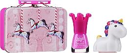 Parfumuri și produse cosmetice Set - Chlapu Chlap (n/polish/5ml + l/balm/1.8g + cosmetic bag/1pc)