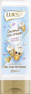 Cremă-gel de duș cu aromă de înghețată de cocos - Luksja Coconut Ice Cream Shower Gel