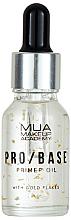 Parfumuri și produse cosmetice Primer cu particule de aur pentru față - Mua Pro/ Base Primer Oil With Gold Flakes