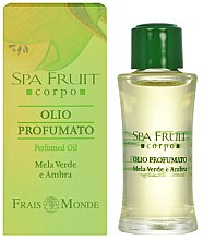Parfumuri și produse cosmetice Frais Monde Spa Fruit Green Apple And Amber Perfumed Oil - Ulei parfumat