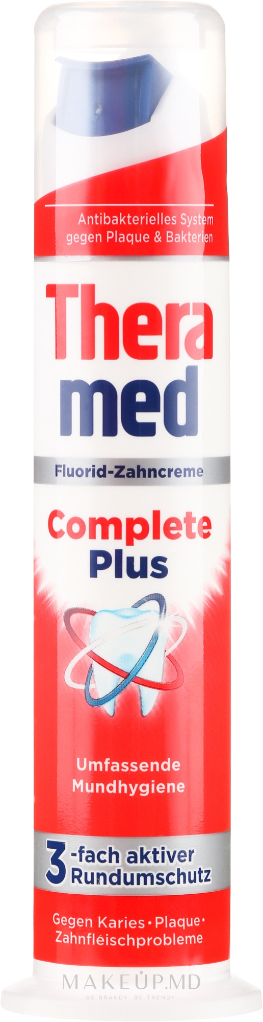 Pastă de dinți, cu pompă - Theramed Complete Plus — Imagine 100 ml
