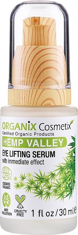 Ser cu efect de lifting pentru față - Organix Cosmetix Hemp Valley Eye Lifting Serum