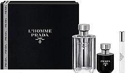 Parfumuri și produse cosmetice Prada L'Homme Prada - Set (edt/100ml + sh/gel/100ml + edt/mini/10ml)