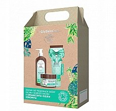 Parfumuri și produse cosmetice Set - GlySkinCare Organic Hemp Seed Oil (b/lot/250ml + sh/gel/250ml + b/scrub/400g)