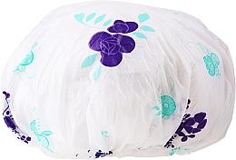 Духи, Парфюмерия, косметика Шапочка для душа, 9298, бело-фиолетовый - Donegal Shower Cap