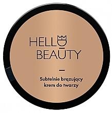 Parfumuri și produse cosmetice Cremă de față, cu efect ușor de bronz - Lullalove Face Cream With Light Bronzing Effect