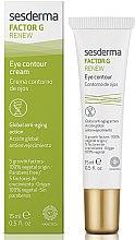 Parfumuri și produse cosmetice Cremă anti-rid zona ochilor - SesDerma Laboratories Factor G Renew Eye Contour