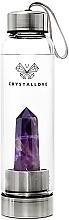 Parfumuri și produse cosmetice Sticlă cu cristal de ametist pentru apă, 550ml - Crystallove