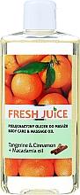 """Parfumuri și produse cosmetice Ulei pentru îngrijire și masaj """"Mandarină și scorțișoară + Ulei de macadamia"""" - Fresh Juice Energy Tangerine&Cinnamon+Macadamia Oil"""