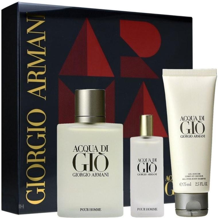 Giorgio Armani Acqua Di Gio Pour Homme - Set (edt 100ml + edt 15ml + sh/gel 75ml)