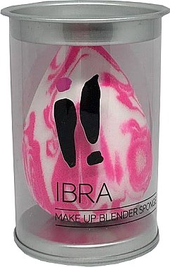 Burete de machiaj, imprimeu marmură, alb-roz - Ibra Makeup Blender Sponge