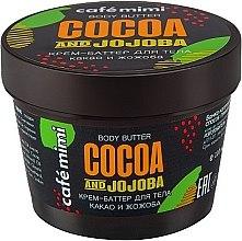 """Parfumuri și produse cosmetice Cremă pentru corp """"Cacao și jojoba"""" - Cafe Mimi Body Butter Cocoa And Jojoba"""