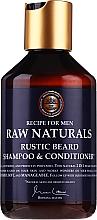 Parfumuri și produse cosmetice Șampon și balsam pentru barbă - Recipe For Men RAW Naturals Rustic Beard Shampoo & Conditioner
