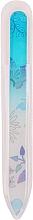 Parfumuri și produse cosmetice Pilă de sticlă pentru unghii - Tools For Beauty Glass Nail File With Flower Printed