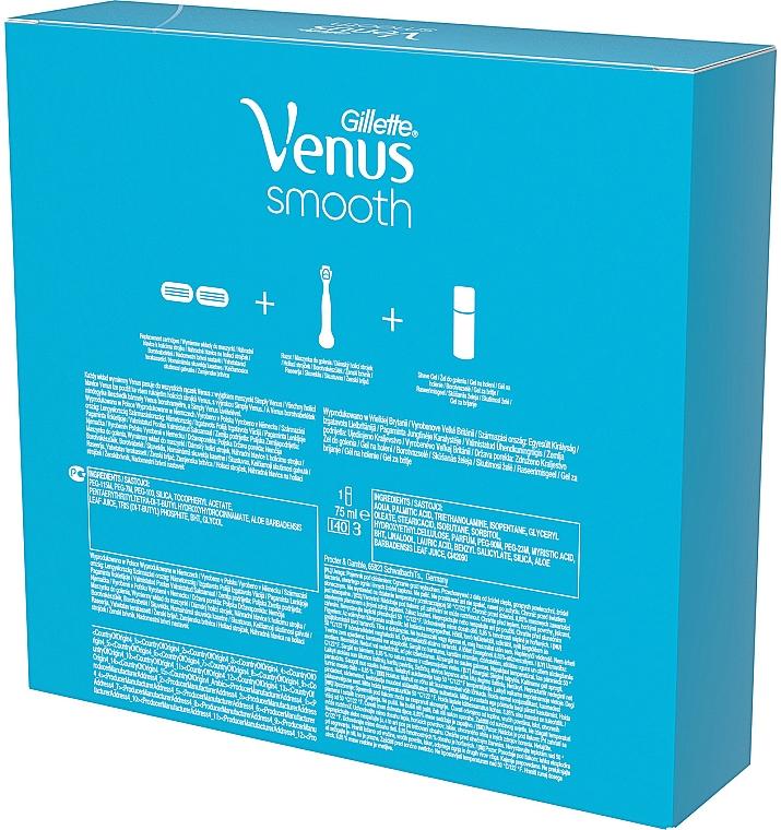 Set - Gillette Venus Venus Smooth (razor/1pcs + refil/2pcs + shave/gel/75ml) — Imagine N2