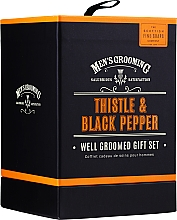 Parfumuri și produse cosmetice Scottish Fine Soaps Men's Grooming Thistle & Black Pepper - Set (edt/50ml + b/wash/75ml + ash/balm/75ml)